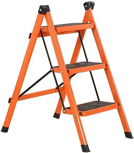 LYJBT Metal Plegable Escaleras de Seguridad de 3 escalones Ascendente Taburetes de Cocina portátiles Inicio Escalera de Tijera Herramientas de jardín (Color : S): Amazon.es: Hogar