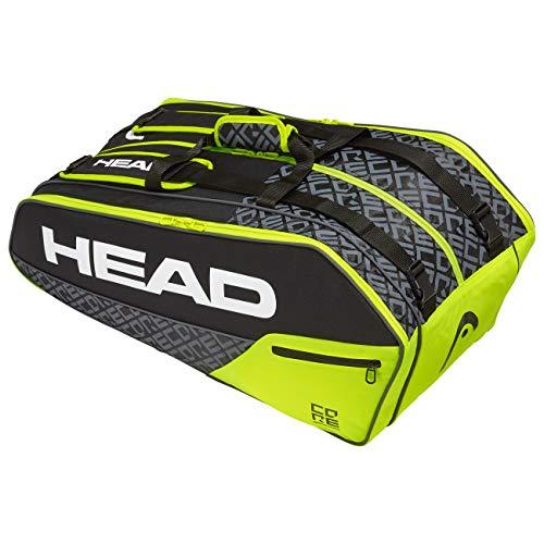 Head Core 9R Supercombi Bolsa de Tenis, Adultos Unisex, Nero/Neon ...