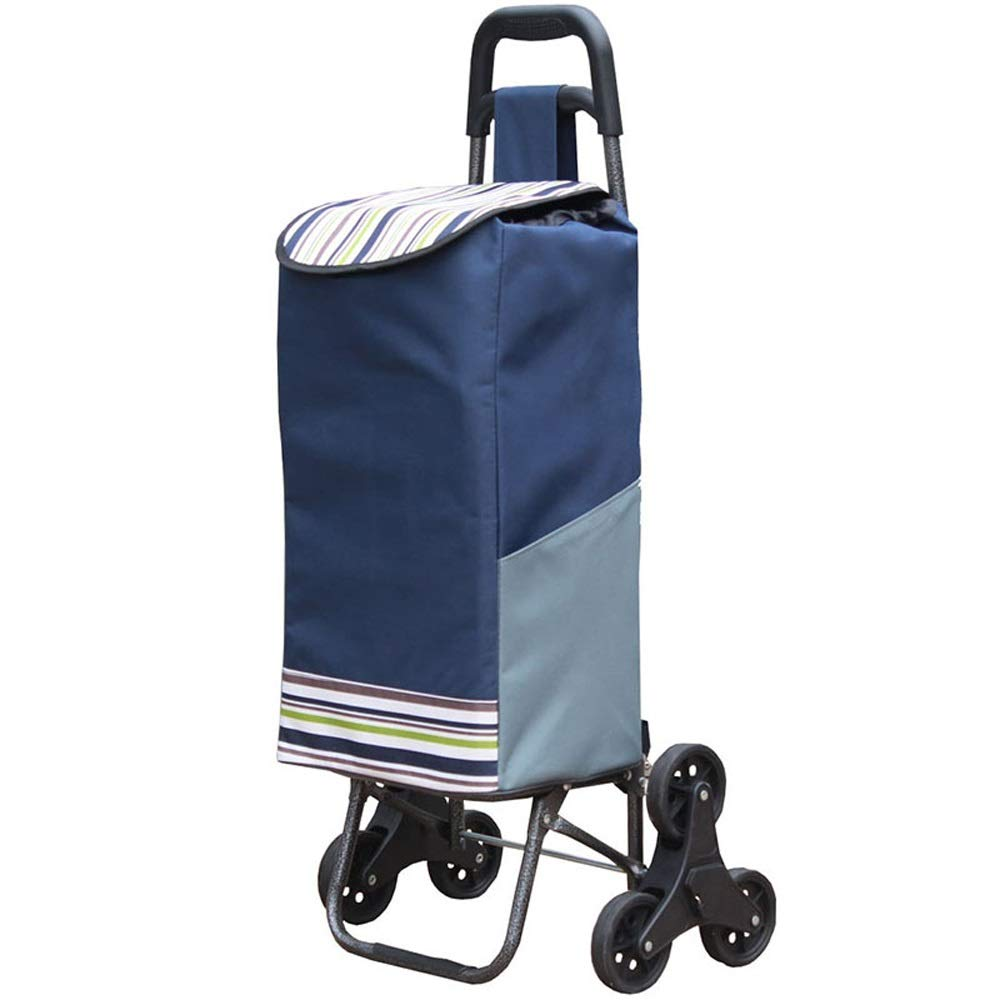 ZA 6 Wheels, Stair-Climbing Design, Portable, Foldable, Cloth Bag, Small Trailer, Luggage cart, Travel cart, Full Iron Connection, Thick Iron Tube, Oxford Cloth Bag, Four Colors Available
