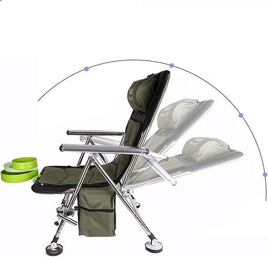 silla de pesca playa estructura de acero tumbona reclinable Dioche tumbona plegable port/átil pesca compacta y ligera silla para camping barbacoa Silla de camping