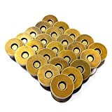Aligle 100 Sets Magnetic Purse Snap Clasps Button/Great Closure Purse Handbag Clothes Sewing Craft Silver (18mm Bronze (50pcs))