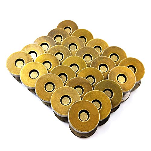 Aligle 100 Sets Magnetic Purse Snap Clasps Button/Great Closure Purse Handbag Clothes Sewing Craft Silver (18mm Bronze (50pcs)) by Aligle