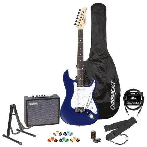 Fender Starcaster Pak with Amp, Stand, Cord, Strap, Strings, Tuner, Gigbag, and Picks – Black
