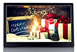OLDTIME 12'' Digital Photo Picture Frame Full View IPS 1920x1080 & HD Video (1080p),Advertising Machine Alarm Clock MP3 MP4 Movie Player with Remote Control- Christmas Gift Present