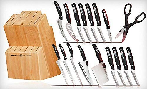 Miracle Blade World Class Series 18 Piece Set Including Knife Block by Miracle Blades