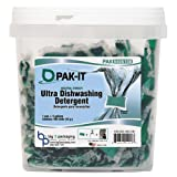PAK-IT Ultra Dish Detergent, Lemon Scent, 100 Paks/Tub (4 Tubs/Carton) - BMC- BIG5505203100CT