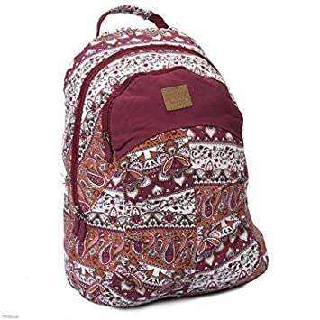 Beau Canvas - Mochila marca Animal - Granate estampado: Amazon.es: Equipaje