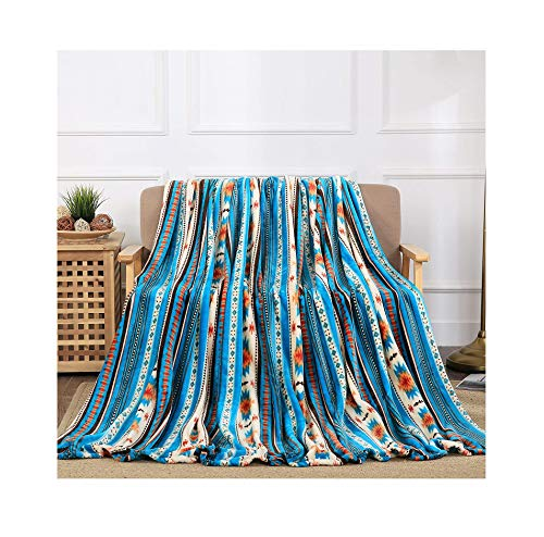 All American Collection New Super Soft Printed Throw Blanket (Throw Size, Blue Southwest) by All American Collection