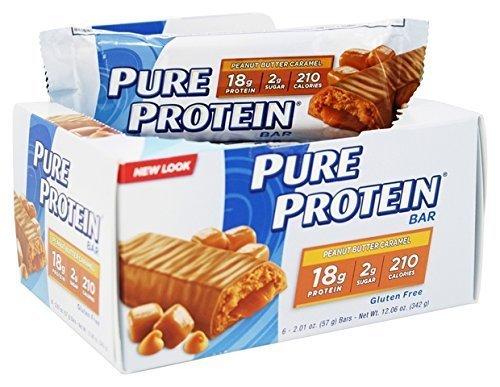 Pure Protein Chocolate Peanut Caramel, 1.76 oz. Bars, 6 Count , Pure-dj by Pure Protein by Pure Protein