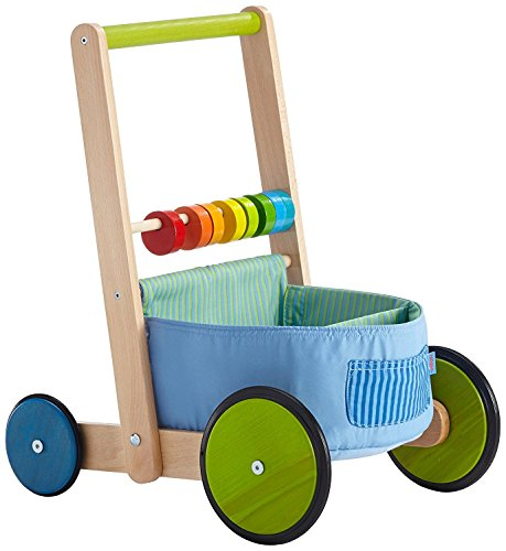 Bright, Cheery Fabric Compartment Walker (Haba Walker Wagon)