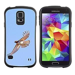 LASTONE PHONE CASE / Suave Silicona Caso Carcasa de Caucho Funda para Samsung Galaxy S5 SM-G900 / hawk flight birds blue sky wings nature