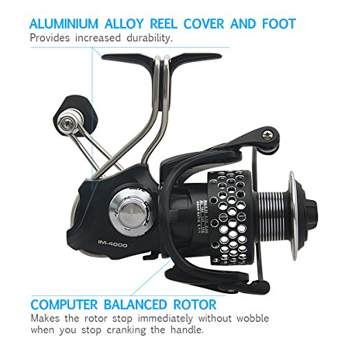 Piscifun steel feeling spinning fishing reel with spare for Reel steel fishing