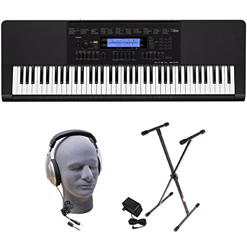 Casio Inc. WK245 PPK 76-Key Premium Portable Keyboard Package with Headphones, Stand and Power Supply