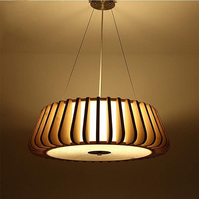 Amazon.com: Lámpara colgante decorativa de ratán de bambú de ...