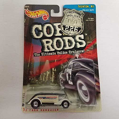 1999 Hot Wheels Cop Rods Police Series 2 '33 Ford Roadster Trenton, NJ