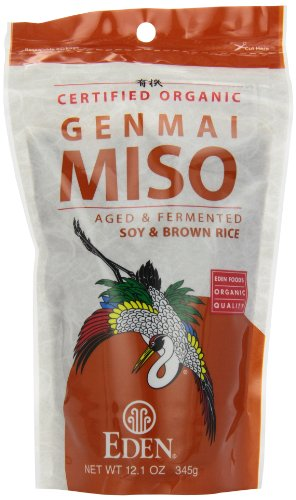 Eden Genmai Miso, Organic Soy & Brown Rice, 12.1-Ounce Packages (Pack of 3)