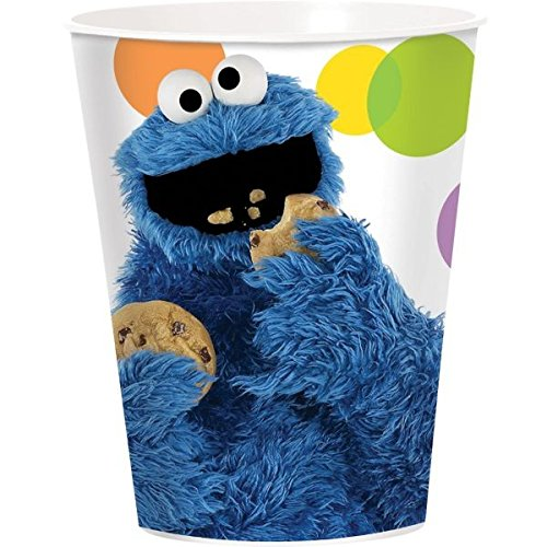 Amscan Sesame Street Re-Usable Plastic Cup, 16-Ounce ()