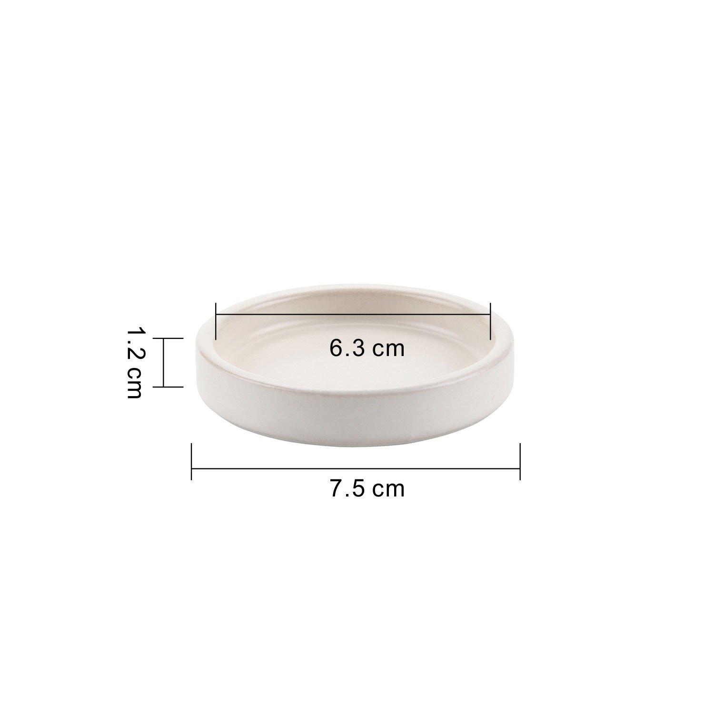 T4U 2.48 Inch Ceramic Round Cameo Brown Serial Saucer Beige