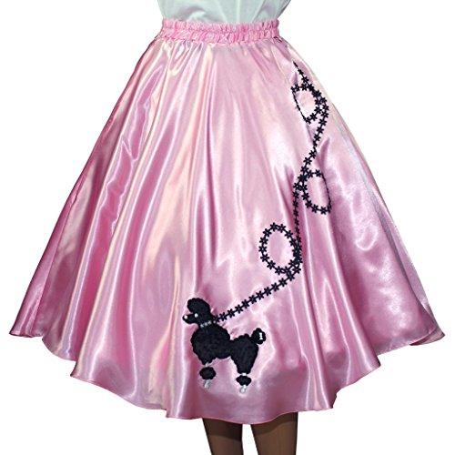 [3 BIG NOTES - Adult SATIN Poodle Skirt Size Large (35
