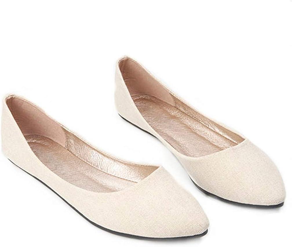 FANGLVE Women's Pointy Toe Ballet Flats