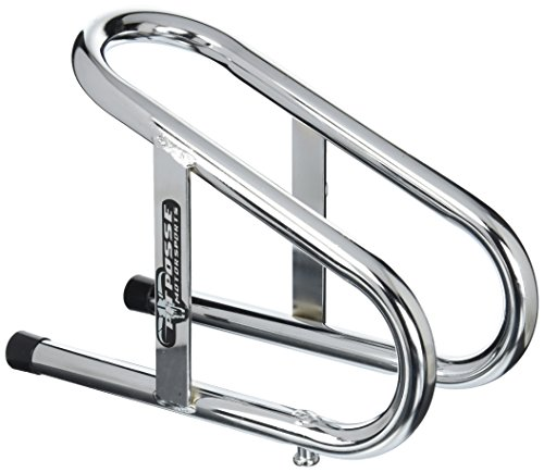 "Pit Posse 11-018 Motorcycle Removable Wheel Chock Nest Tire Trailer Holder Chrome 5 Yr Warranty 3 1/2"" Wide"