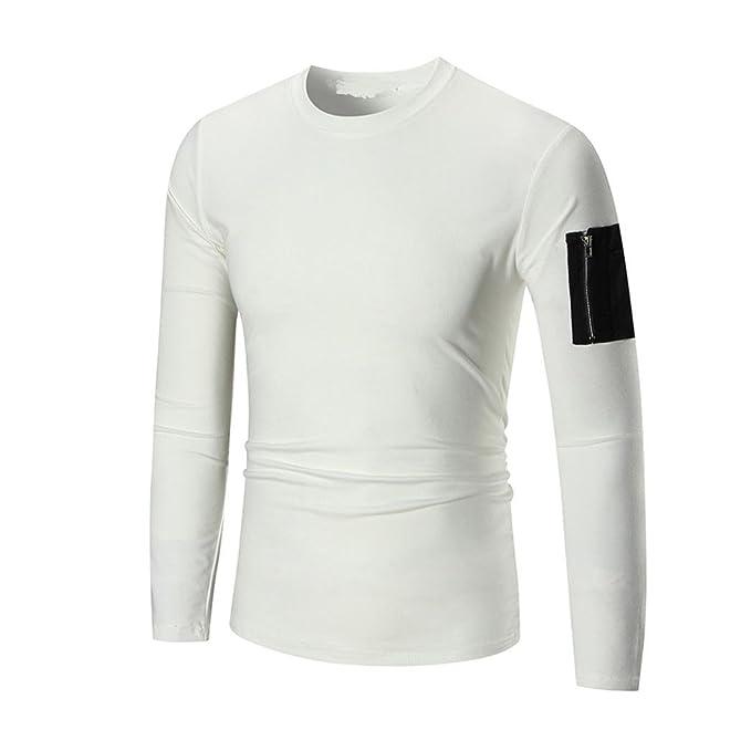 Blusa Hombre Yesmile Camiseta Sudadera con Capucha de Manga Larga para Hombre Sudadera con Capucha Tops Abrigo de Chaqueta Outwear: Amazon.es: Ropa y ...
