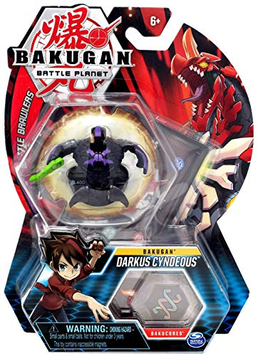 Bakugan, Darkus Cyndeous, 2-inch Tall Collectible Transforming Creature, for Ages 6 and Up (Darkus Bakugan)