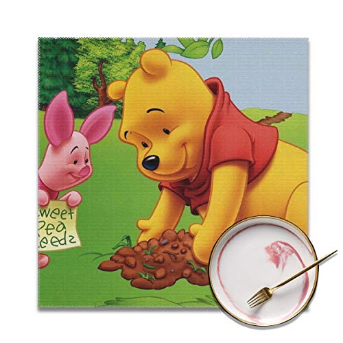 (LIUYAN Placemats Set of 4 - Winnie The Pooh Place Mats for Kitchen Dining Table Decoration)