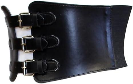 Zac/'s Alter ego ® 17 cm effet cuir noir très large Taille Lacets Corset Ceinture