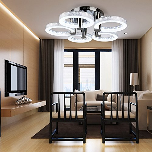 European modern style led acrylic chandeliers ceiling light lamp oanon european modern style led acrylic chandeliers ceiling light lamp pendant lamp with 5 lights hallway dining mozeypictures Images