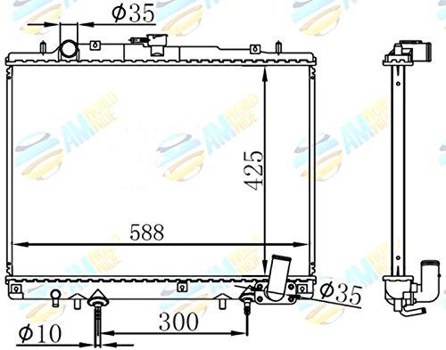 Amazon.com: Radiador para Mitsubishi L200/Mega Magnum 2.5 TD ...