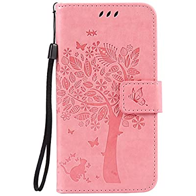 Moto G4 Play Case, Harryshell Caving Tree Kickstand Flip PU Wallet Leather Protective Case Cover with Card Slot & Wrist Strap for Motorola Moto G Play Version (2016) / G4 Play by Harryshell