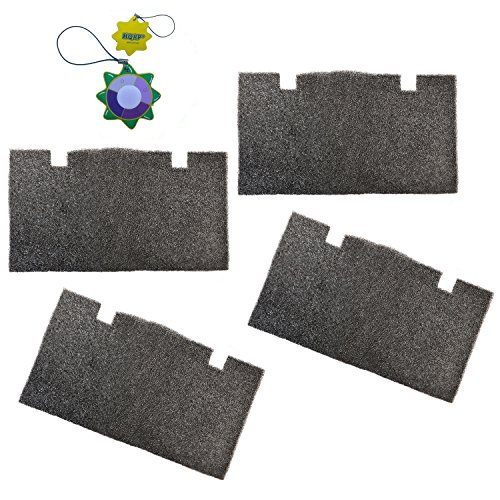 HQRP 4 pcs Foam Air Filter for Dometic Duo Therm Quick Cool 59516, 59528, 59529, 59530 Series Roof Top Air Conditioners & Heat Pumps + HQRP UV (Top Heat Pump)
