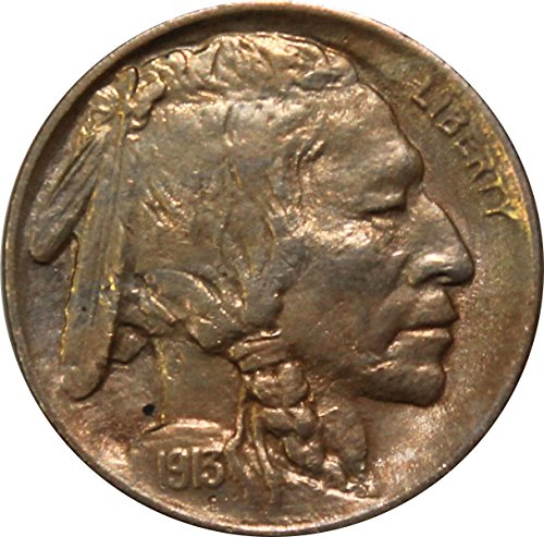 1913 P Type 1 Buffalo Nickel 5c Gem Brilliant Uncirculated Gold (Uncirculated Gold Buffalo)
