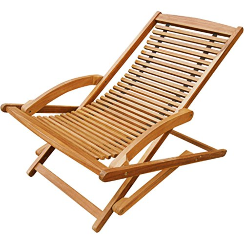 Festnight Folding Outdoor Patio Chaise Lounge Deck Chair