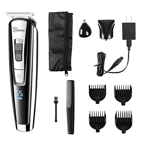 hatteker waterproof beard trimmer kit for men 3 in 1 body grommer kit mustache trimmer cordless. Black Bedroom Furniture Sets. Home Design Ideas