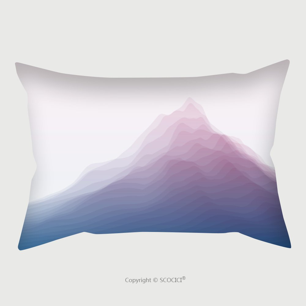 Custom Satin Pillowcase Protector Mountain Landscape. Vector Silhouettes Of Mountains Backgrounds. Can Be Used For Banner, Flyer, Book Cover, Poster, Web Banners_42355991 Pillow Case Covers Dec