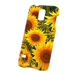 Case Fun Samsung Galaxy S5 (i9600) Case - Ultra Slim Version - Full Wrap Edge to Edge Print - Sunflowers hjbrhga1544