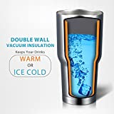 Homitt Stainless Steel Tumbler Double Wall Insulated Vacuum...