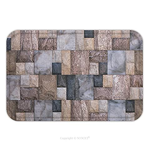 Flannel Microfiber Non-slip Rubber Backing Soft Absorbent Doormat Mat Rug Carpet Tiles With Colored Abstract Mosaic 469038149 for - Mosaic Outdoor Rug