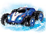 Kidzlane Powerful Amphibious Remote Control Car, Drives on Land & Water, 200 Ft. Control Range, 360 Degree Spins, LED Headlights - Blue