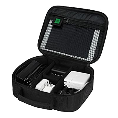 BAGSMART Electronics Travel Organizer Bag Hard Drive Case for Various USB, Phone, Cable, Charger