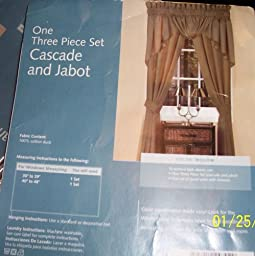 Whole Home Colormate 3-pc Cascade and Jabot From Sears