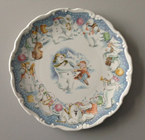 ROYAL DOULTON DANCE OF THE SNOWMAN PLATE 21CM - NEW IN ORIGINAL BOX - RETIRED & RARE by Snowman