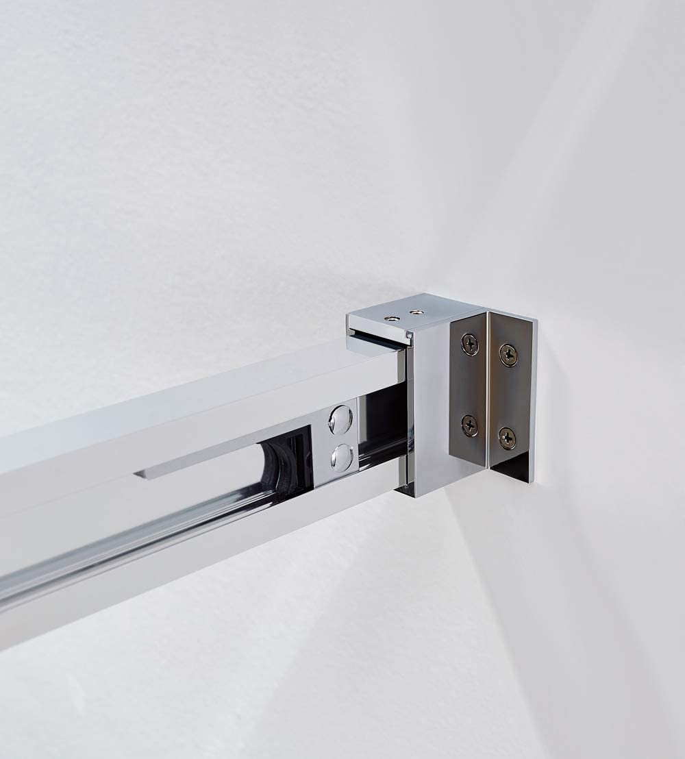 1 Hoja Fija 1 Hoja Corredera GME Mampara de Ducha 95-100 cm Basic Frost Plus Frontal