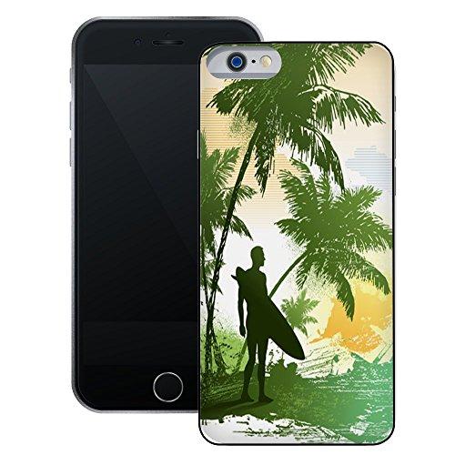Surfer Retro | Handgefertigt | iPhone 6 6s (4,7') | Schwarze Hülle