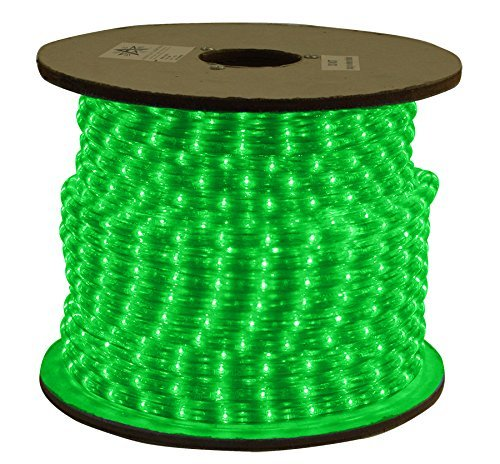American Lighting LED Flexbrite 1/2-Inch Rope Light Reel, 150-Feet, Green ()