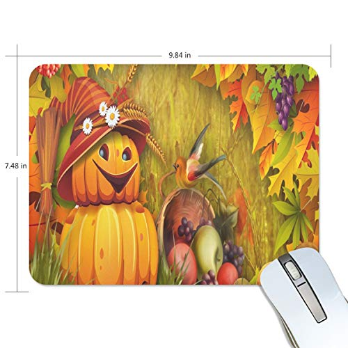 Funny Mouse Pad Personalized Halloween Fruit Wallpaper Rectangle Shape for Office Computer Work (9.84 x 7.48 inch)