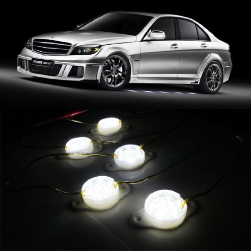 iJDMTOY Mercedes-Benz Brabus Style 90-LED Under Car Foot Area Illumination LED Puddle Lights, Xenon White