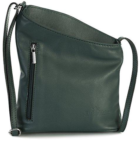 Leather Mini Bag Shoulder Teal JOY Cross Womens Genuine Body Deep Soft Body LIATALIA Purse Cross UIxv4